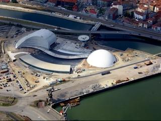 El Centro Niemeyer en una vista aérea