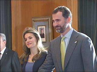 Los Príncipes de Asturias en una de sus numerosas recepciones