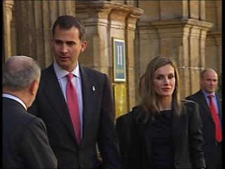 Los Príncipes de Asturias en Oviedo
