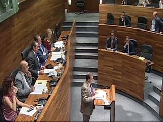 Jesús Iglesias en la sesión plenaria de la Junta