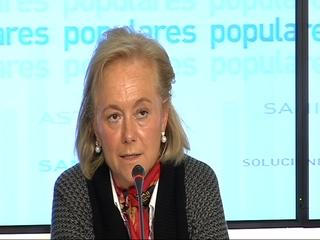 La candidata del PP al Congreso de los Diputados por Asturias, Mercedes Fernández