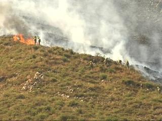 Incendio en las inmediaciones de Llonín, Peñamellera Alta