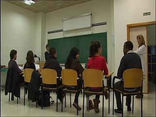 Estudiantes del Máster Erasmus Mundus en la Facultad de Enfermería