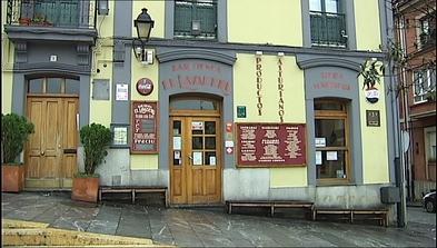 Sidrería El Lavaderu en el barrio de Cimadevilla en Gijón