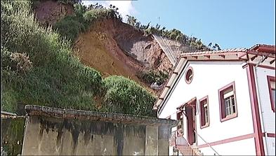 Desprendimiento del monte Fuxa en Candás