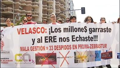 Manifestación de trabajadores de Proima-Zebrastur