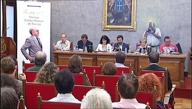 Acto de entrega del premio de poesía Emilio Alarcos