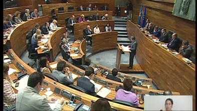 El presidente del Principado, Javier Fernández, interviene en el Debate sobre el Estado de la Región