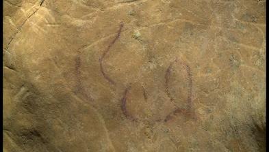Pintura rupestre en la cueva del Sidrón