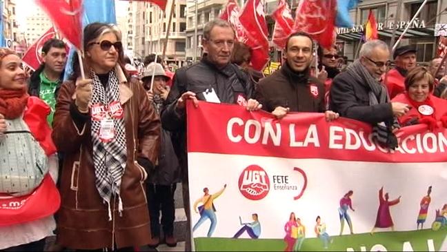 Manifestación en Madrid contra la LOMCE