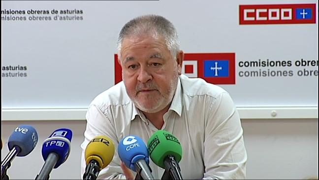 El secretario general de CCOO de Asturias, Antonio Pino