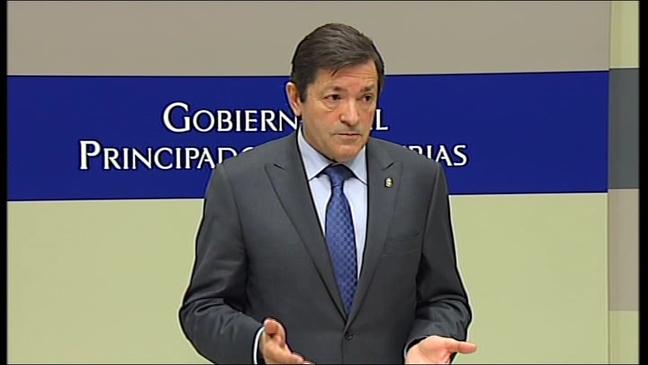 El presidente del Gobierno de Asturias, Javier Fernández