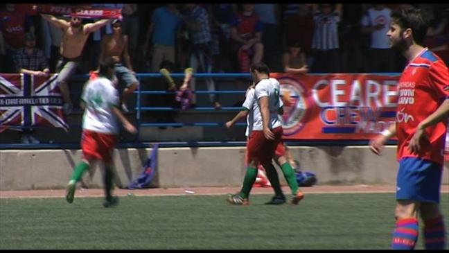 Los jugadores del Trival Valderas celebran el 2-2 ante el Ceares