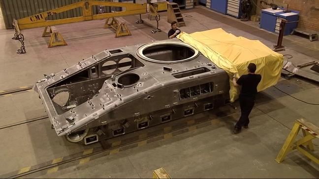 Barcaza de un carro de combate