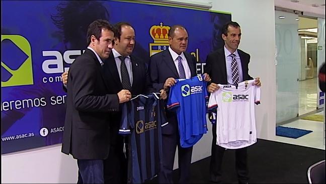 Presentación del nuevo patrocinador del Real Oviedo
