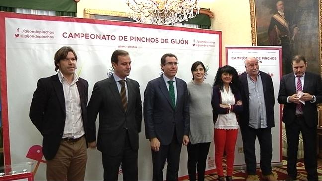 Presentación de la séptima edición del certamen de pinchos de Gijón
