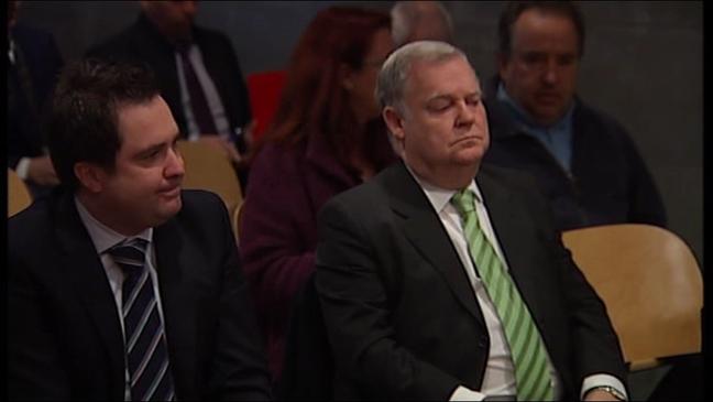 Severino García Vigón sentado en el banquillo de los acusados