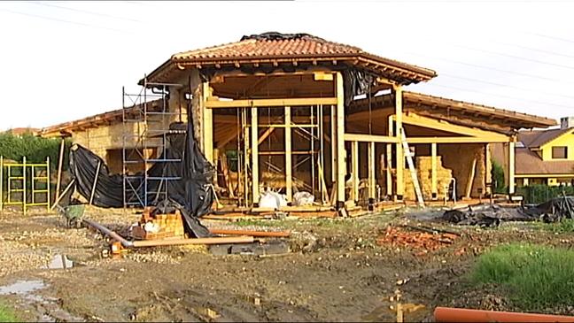 Casa hecha de paja