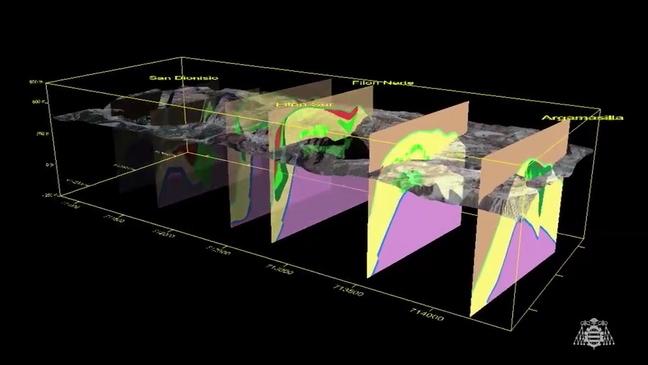 Reconstrucción geológica en tres dimensiones del yacimiento minero de Río Tinto