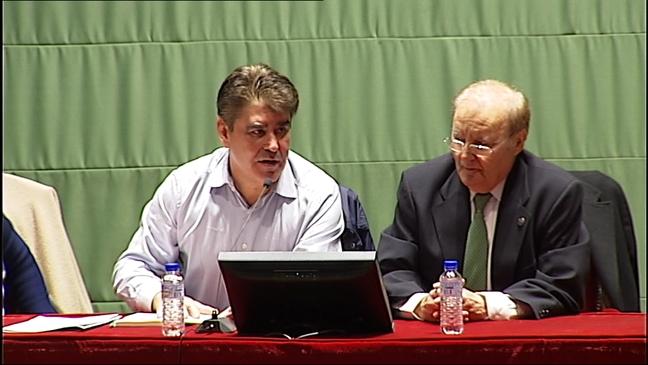 Roman y Losa en la junta general del CODEPA