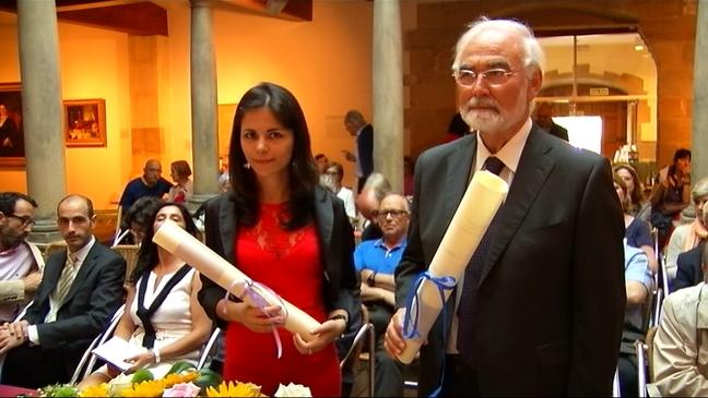Los premiados, Juan Pedro Aparicio y Celia Corral