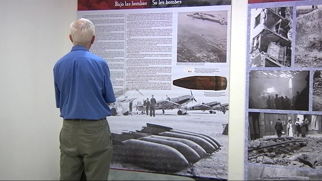 Exposición en memoria de los bombardeos sufridos en Gijón durante la Guerra Civil