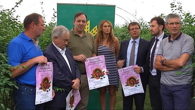 Presentación del primer festival de frutos rojos de Villaviciosa