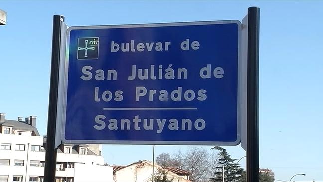 Inaugurado el bulevar de San Julián de los Prados-Santuyano
