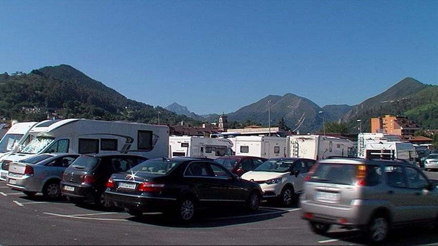 Parking de caravanas en Cangas de Onís