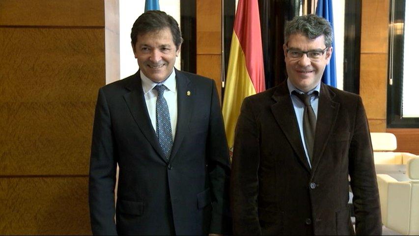 El ministro de Energía, Turismo y Agenda Digital, Álvaro Nadal y el presidente del Principado, Javier Fernández