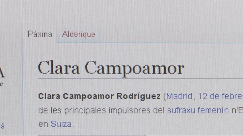 Biografía en la wikipedia en asturiano