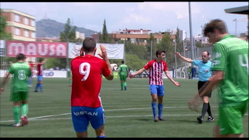 Un momento del partido Cornellá-SportingB