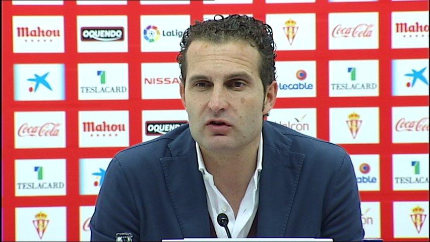 El técnico del Sporting, Rubén Baraja