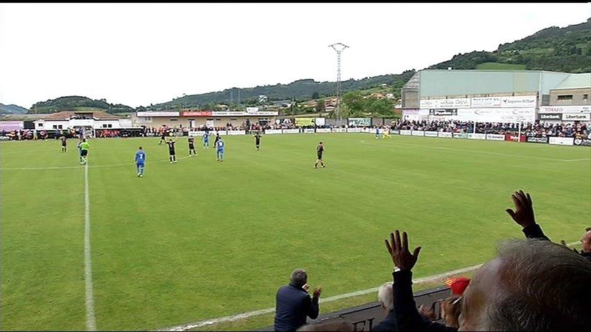 Un momento del partido de ascenso a Segunda B disputado entre Lealtad-Getafe B