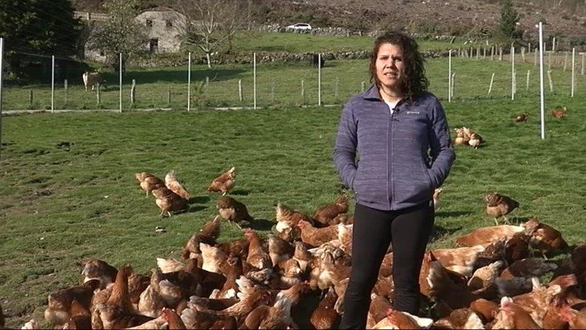 Noelia García, gerente de una granja ecológica en Boal