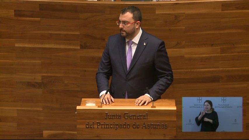 El socialista Adrián Barbón, elegido presidente del Principado