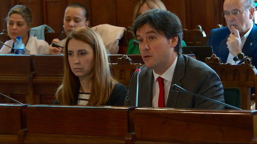 Borja Sánchez en el Parlamento asturiano