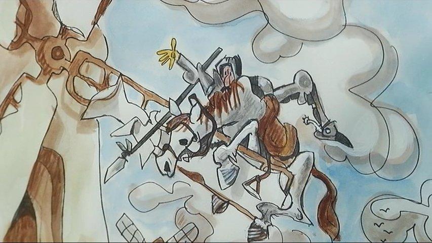 Ilustración de Mingote en el Palacio de Valdecarzana en Avilés