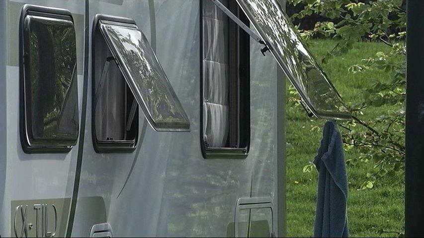 Caravana confinada en Asturias en cuarentena