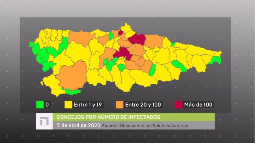 Mapa De Concejos Con Contagiados Por Coronavirus Noticias Rtpa
