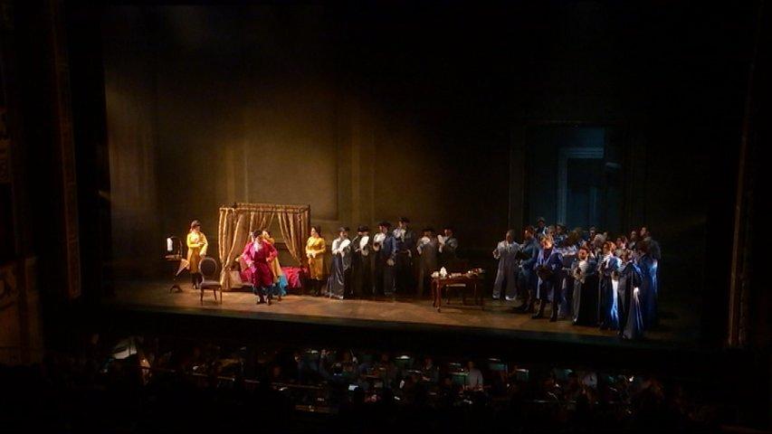 Representación de la ópera de Oviedo