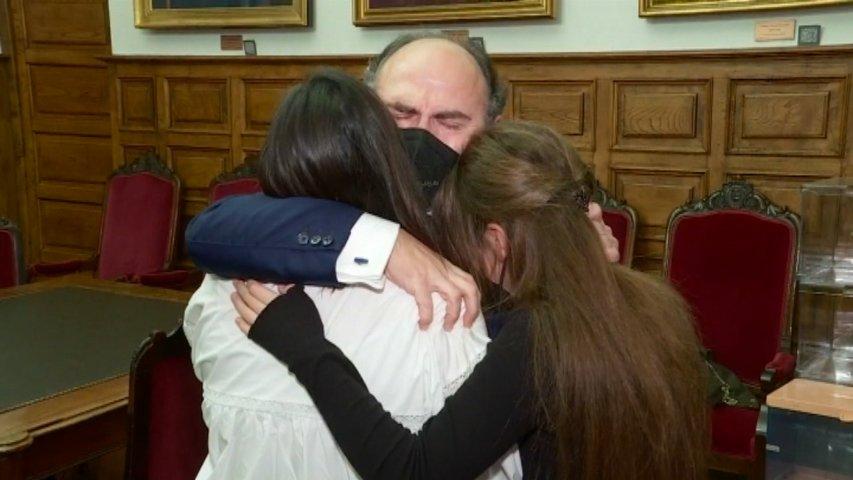 Ignacio Villaverde, tras ser elegido rector de la Universidad de Oviedo
