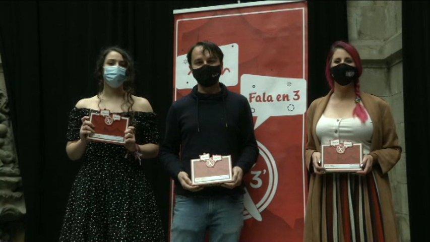 Ganadores del concurso 'Gijón fala en 3'