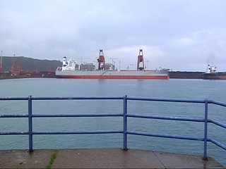 Barco en el Musel