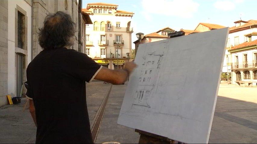 Rtpa m s de medio centenar de pintores en pravia - Pintores en asturias ...